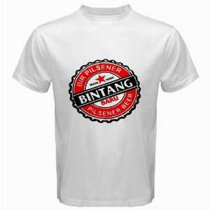 Bintang Beer Logo New White T Shirt Size  S, M ,L , XL