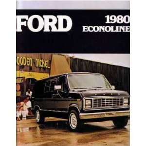 1980 FORD ECONOLINE Sales Brochure Literature Book Automotive