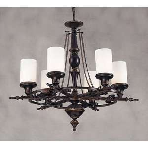 Baltimore House 6 Light Aged Bronze Chandelier 29 x 27