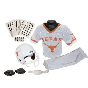Texas Longhorns Youth Ncaa Deluxe Helmet And Uniform Set
