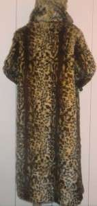 SPECTACULAR TERRY LEWIS Classic Luxuries LEOPARD CHEETAH FAUX FUR LONG