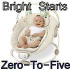 New Bright Starts Biscotti Harmony & Comfort Baby Cradling Bouncer