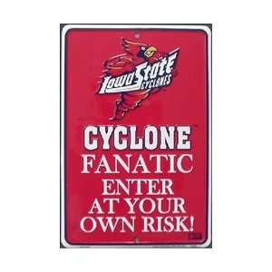 Iowa State Cyclones Metal Fanatic Sign **