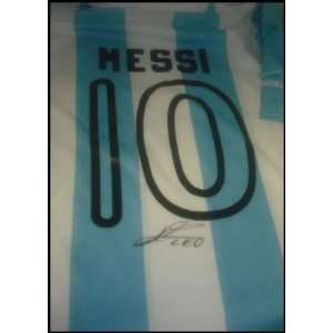 ArgentinaS Messi Autographed/Hand Signed Jersey