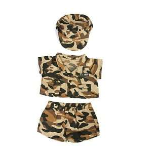 Army Camos with Cap Outfit Teddy Bear Clothes Fit 14   18