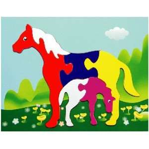 Mare and Foal Wooden Fun Puzzle Toys & Games