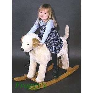 Yellow Lab Dog Rocker   by Carstens Toys & Games