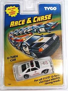Tyco Race and Chase Fire Chief U Turn Slot Car with Siren and Flashing