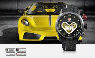 SPEED SHARK Automatic Mechanical 6 Hands Date Day Black Black Yellow