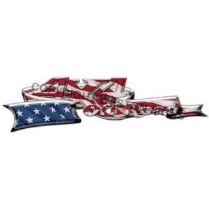 Custom 4x4 Decals American Flag   4.5 h x 17.5 w   REFLECTIVE