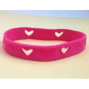 Hot Pink Silicone Bracelet to Benefit Fundacion Livros For Charity