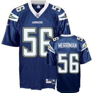 Shawne Merriman #56 San Diego Chargers Replica NFL Jersey Navy Blue