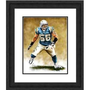 Framed Small Shawne Merriman San Diego Chargers Giclee