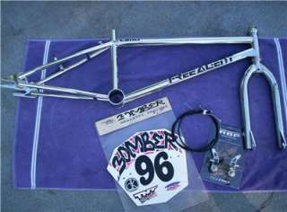 FREE AGENT LIMO OLD SCHOOL BMX MADE IN USA CHROME FRAME + FORK REDLINE