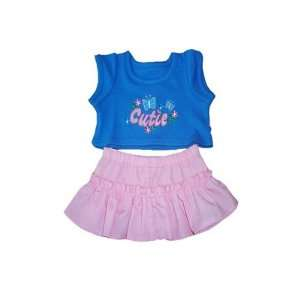 Blue and Pink Cutie Outfit Teddy Bear Clothes Fit 14   18