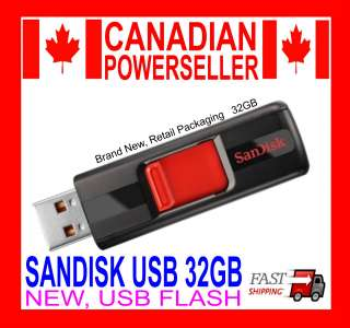 32 GB SANDISK CRUZER USB FLASH DRIVE MEMORY *BRAND NEW* 32GB