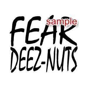 RANDOM FEAR DEEZ NUTZ 10 WHITE VINYL DECAL STICKER