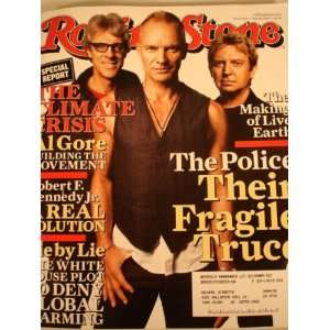 Rolling Stone Magazine Back Issue June 28, 2007 The Police on Cover