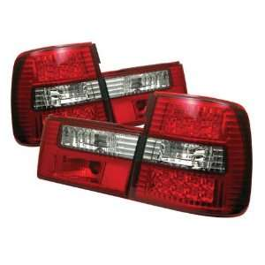 Redlines TL BE3488 LED RC Red/Clear Medium LED Tail Light for BMW E34