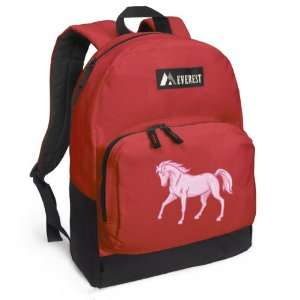 Pink Horse Backpack Red