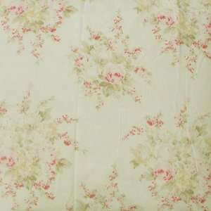60 Wide Shabby Chic Percale Cotton Sheeting Rose Blossom