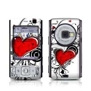 com My Heart Design Protective Skin Decal Sticker for Nokia N95 Cell