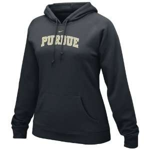 com Nike Purdue Boilermakers Ladies Black Arch Lettering Fleece Hoody