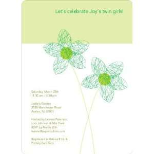 Twin Flowers Baby Shower Invitations Health & Personal
