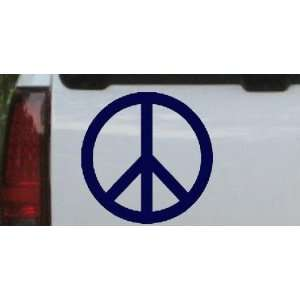 Navy 20in X 20.0in    Peace Sign Symbol Car Window Wall Laptop Decal