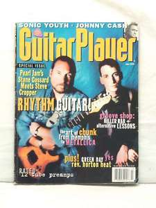 GUITAR PLAYER MAGAZINE PEARL JAM STONE GOSSARD JULY 94