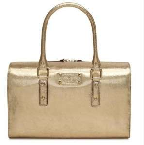 NWT New Authentic KATE SPADE Flicker Melinda Paradise Gold Leather
