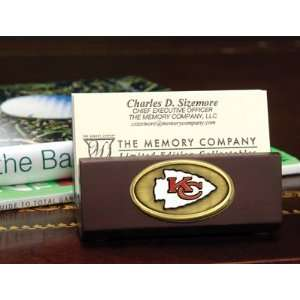 NFL Kansas City Chiefs Football Business Card Holder