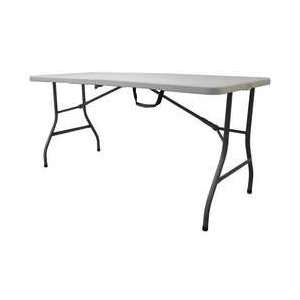 Industrial Grade 13V434 Table, 1/2 Fold, 5 Ft, Blow Mold, White