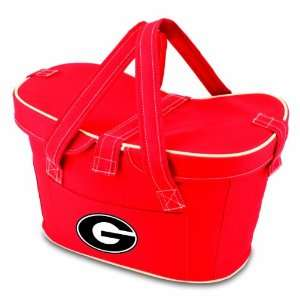 NCAA Mercado Insulated Cooler Basket, Red Sports