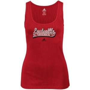 adidas Louisville Cardinals Ladies Red Distressed Logo
