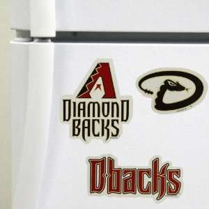 ARIZONA DIAMONDBACKS TEAM LOGO CAR FRIDGE MAGNET SET (3