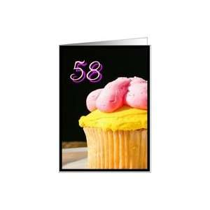 Happy 58th Birthday muffin Card Toys & Games