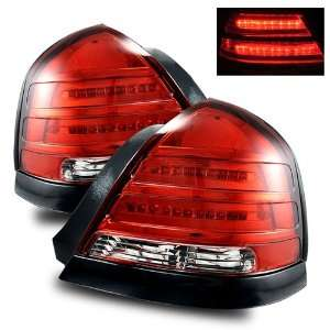 98 03 Ford Crown Victoria Red/Clear LED Tail Lights
