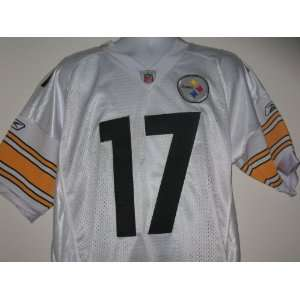 Mike Wallace # 17 Pittsburgh Steelers Jersey White Size