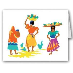 Hispanic Ladies Note Card   10 Boxed Cards & Envelopes Health