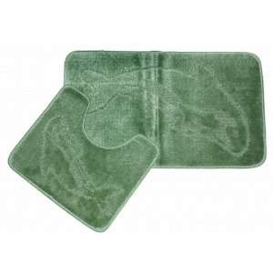 2 Piece Dolphin Sage Green Bathroom Bath Mat Set