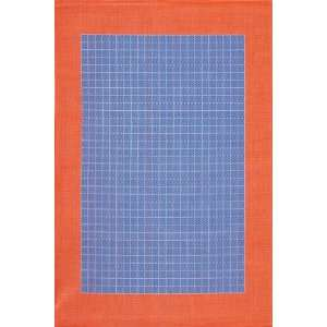 Checkered Field Design Rug 76x109 Bright Blue