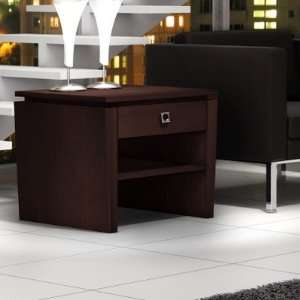 Furnitech Classic Modern end table with tapered legs and floating top