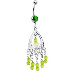 Green Gem Katya Chandelier Belly Ring Jewelry