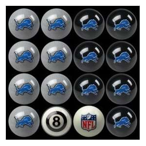 Detroit Lions Home vs Away NFL Pool Ball Set