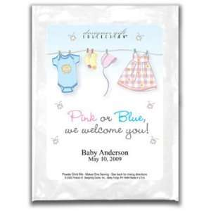 Baby Shower Favors Cosmopolitan Mix Pink and Blue Clothes