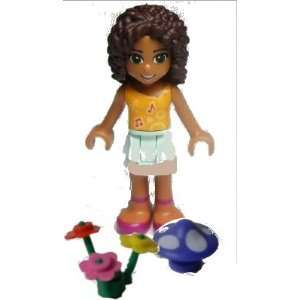 Lego Friends, loose Mini Figure  Andrea, Light Aqua
