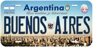 Buenos Aires Argentina Car Tag Novelty License Plate