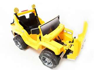 YELLOW 12V BATTERY POWER KIDS RIDE ON HUMMER JEEP W/ BIG WHEELS