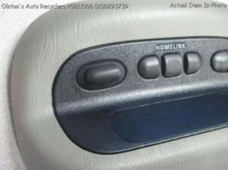 Overhead Console Information Sunroof Message Center 10437132